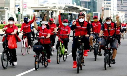 """Sepeda Santai Bertajuk """"Gowes Bareng PDI Perjuangan"""""""