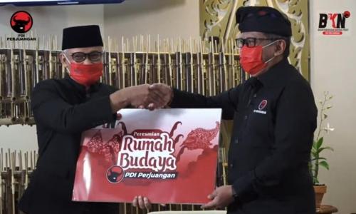 Peresmian 'Rumah Budaya' PDI Perjuangan