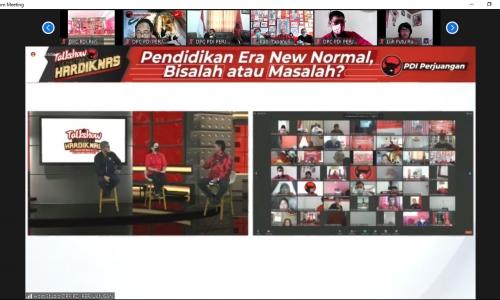 PDI Perjuangan Gelar Talkshow Peringatan HARDIKNAS 2021