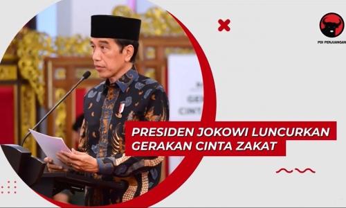 Presiden Jokowi Luncurkan Gerakan Cinta Zakat