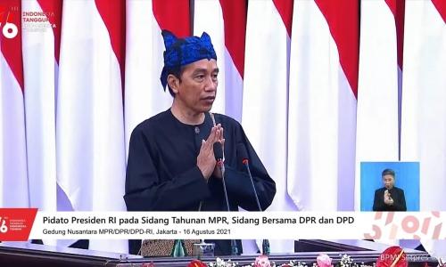 Pidato Presiden RI Joko Widodo Pada Sidang Tahunan 2021
