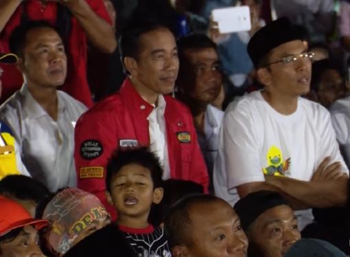 Presiden Jokowi Nobar Penutupan Asian Games di Lombok