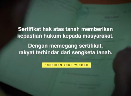 Sertifikat Tanah untuk Rakyat Indonesia