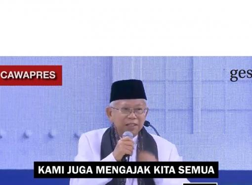 KH Ma'ruf Amin Siap Memerangi Fitnah dan Hoax