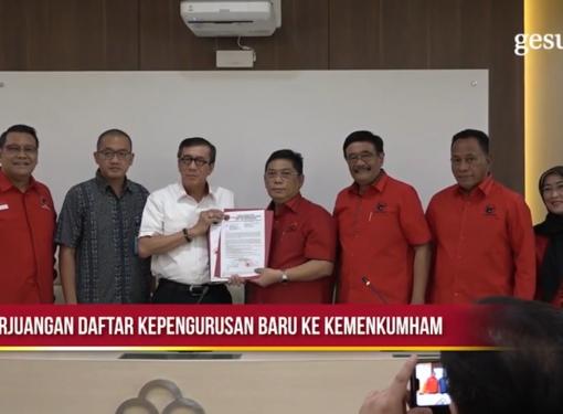 PDI Perjuangan Daftar Kepengurusan Baru ke Kemenkumham