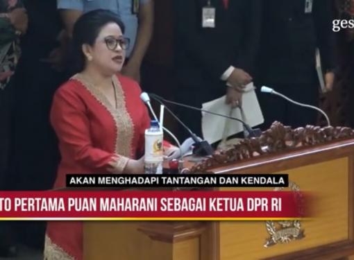 Pidato Pertama Puan Maharani sebagai Ketua DPR RI