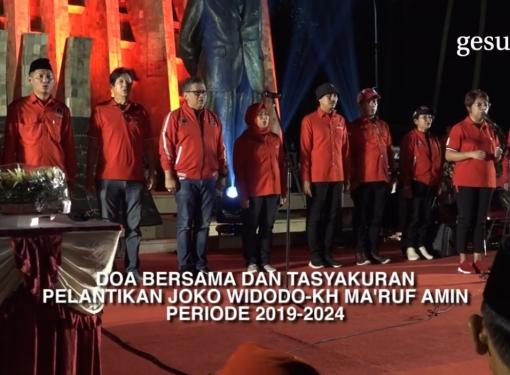 PDI Perjuangan Doa Bersama dan Tasyakuran Pelantikan Jokowi