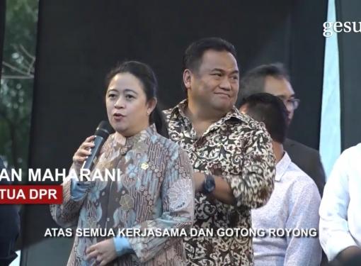 Puan Maharani Bergoyang dan Bernyanyi Bersama TNI-Polri