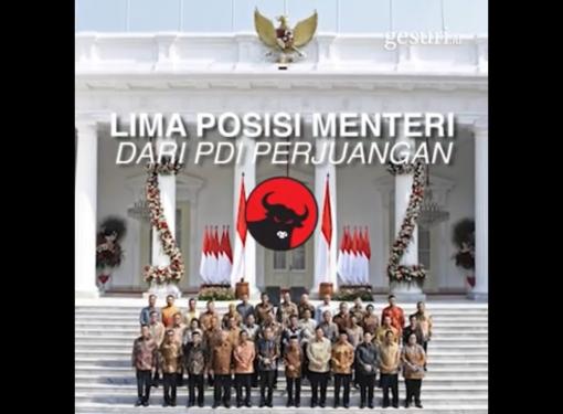 5 Menteri dari PDI Perjuangan di Kabinet Indonesia Maju