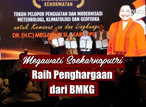 Megawati Soekarnoputri Raih Penghargaan dari BMKG