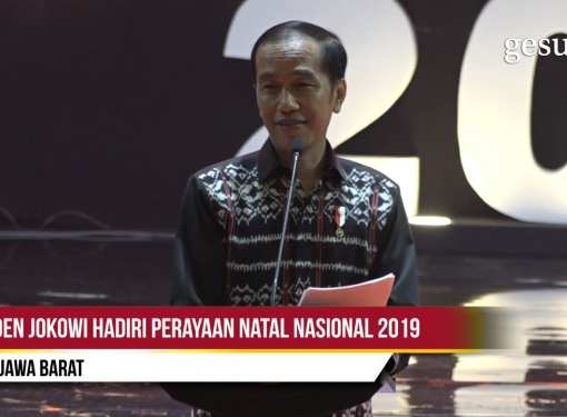 Presiden Jokowi Hadiri Perayaan Natal 2019 di Sentul