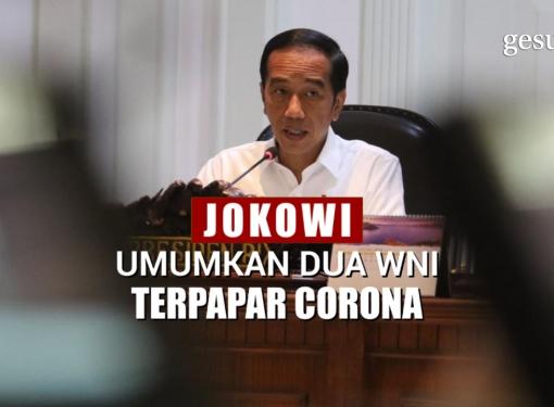 Presiden Jokowi Umumkan 2 WNI Terpapar Virus Corona