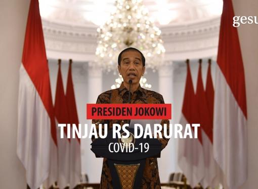 Presiden Jokowi Tinjau Rumah Sakit Darurat Covid-19