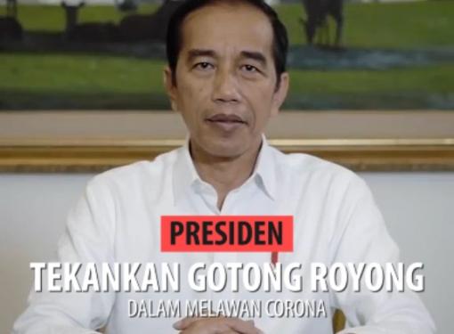 Presiden Jokowi Tekankan Gotong Royong Dalam Melawan Corona