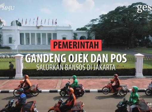 Pemerintah Gandeng Ojek dan Pos Salurkan Bansos di Jakarta