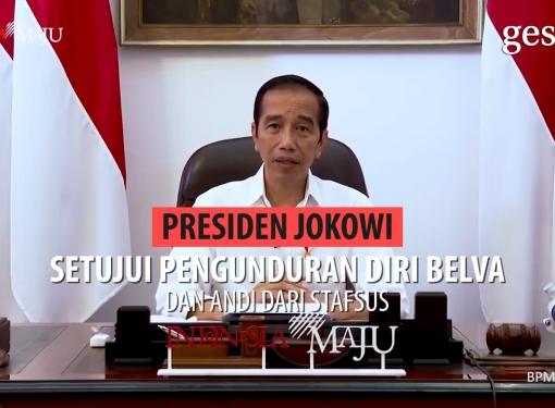 Presiden Setujui Pengunduran Diri Belva & Andi dari Stafsus