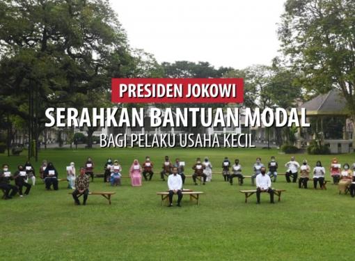Presiden Serahkan Bantuan Modal Bagi Pelaku Usaha Kecil