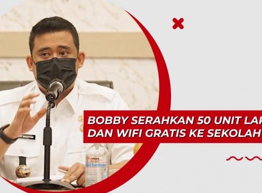 Bobby Nasution Serahkan 50 Unit Laptop dan Wifi Gratis
