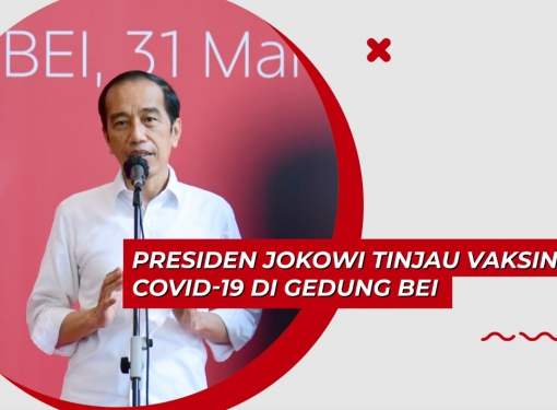 Presiden Jokowi Tinjau Vaksinasi COVID-19 di Gedung BEI