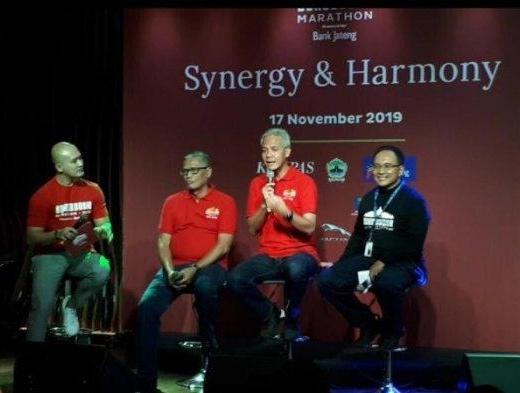 Ganjar Terkejut Membludaknya Peserta Borobudur Marathon 2019
