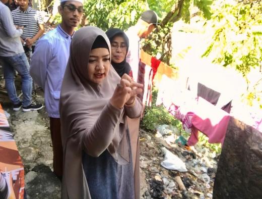Tinjau Lokasi Longsor di Tegal, Ini Harapan Dewi Aryani