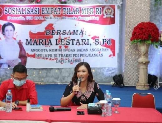 Sosialisasi 4 Pilar, Maria Serukan Petani Tolak Radikalisasi