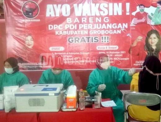 Mantap, Banteng Kabupaten Grobogan Gelar Vaksinasi Massal