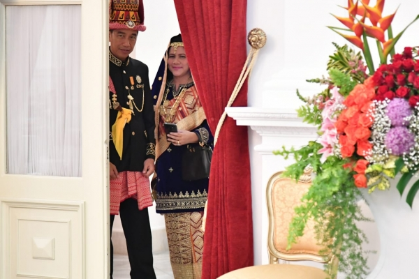Presiden Jokowi Bersiap Upacara Kemerdekaan di Istana Negara