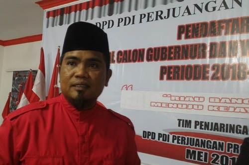 Ketua DPRD Kepri, PDI Perjuangan Sodorkan Zukri Misran