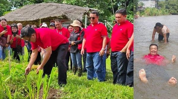 PDI Perjuangan Bitung Tanam Pohon dan Bersih Sungai