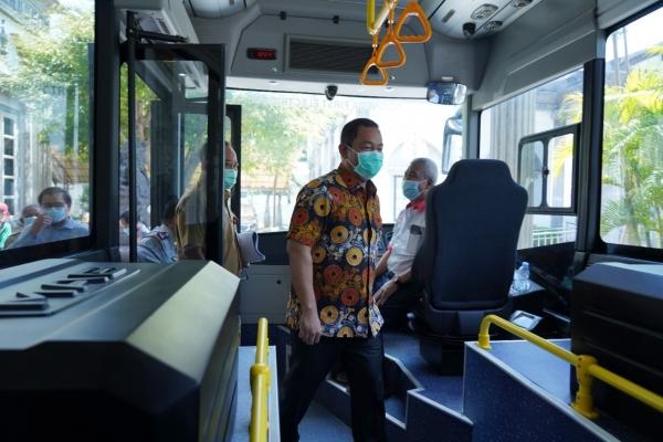 Hendi Uji Coba Bus Listrik Produksi Dalam Negeri