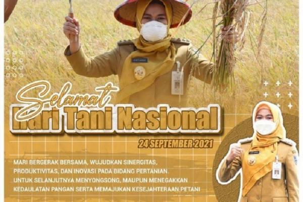 Hari Tani, Bupati Eisti: Bumikan Nilai Perjuangan Petani