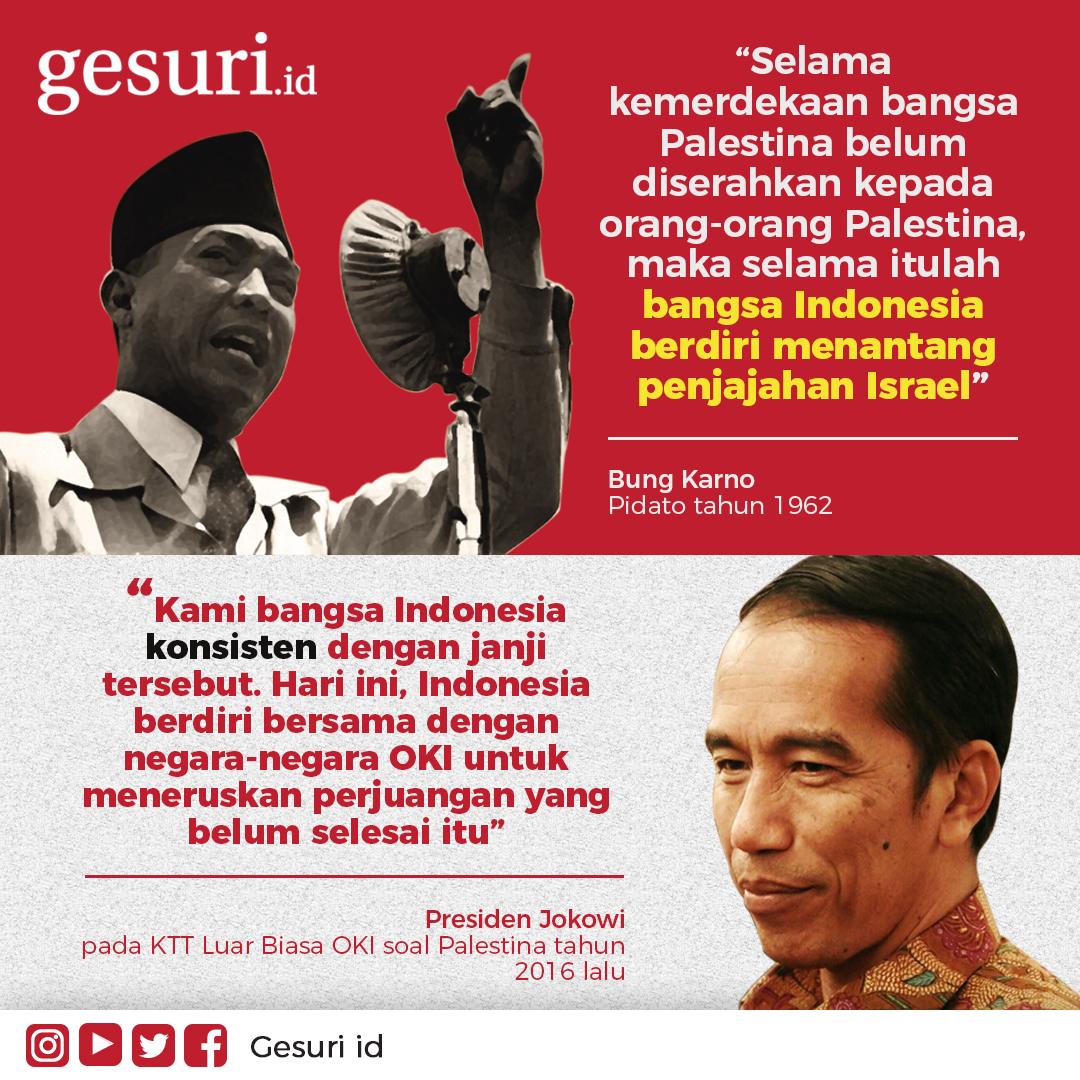 Bangsa Indonesia berdiri menantang penjajahan Israel