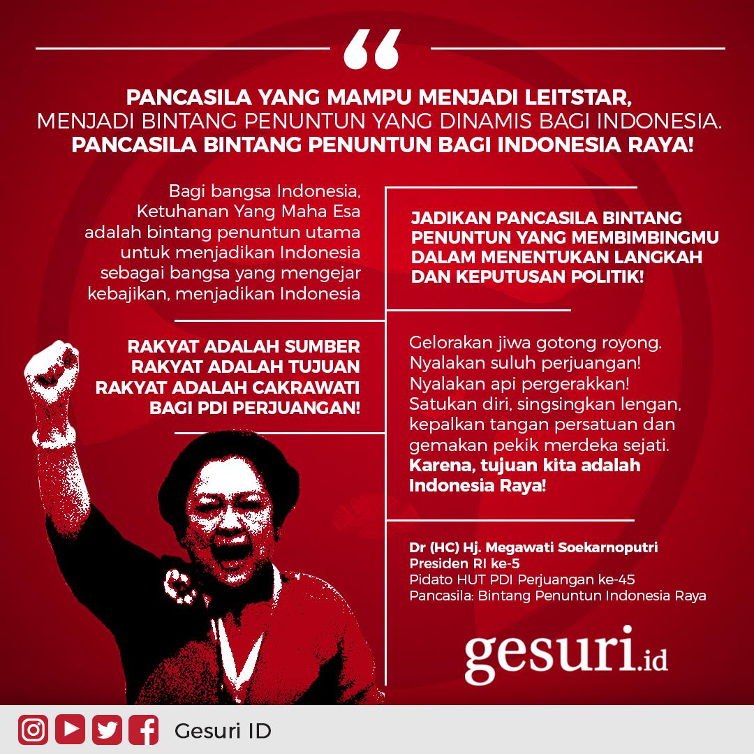 Pancasila bintang penuntun bagi bangsa Indonesia Raya!