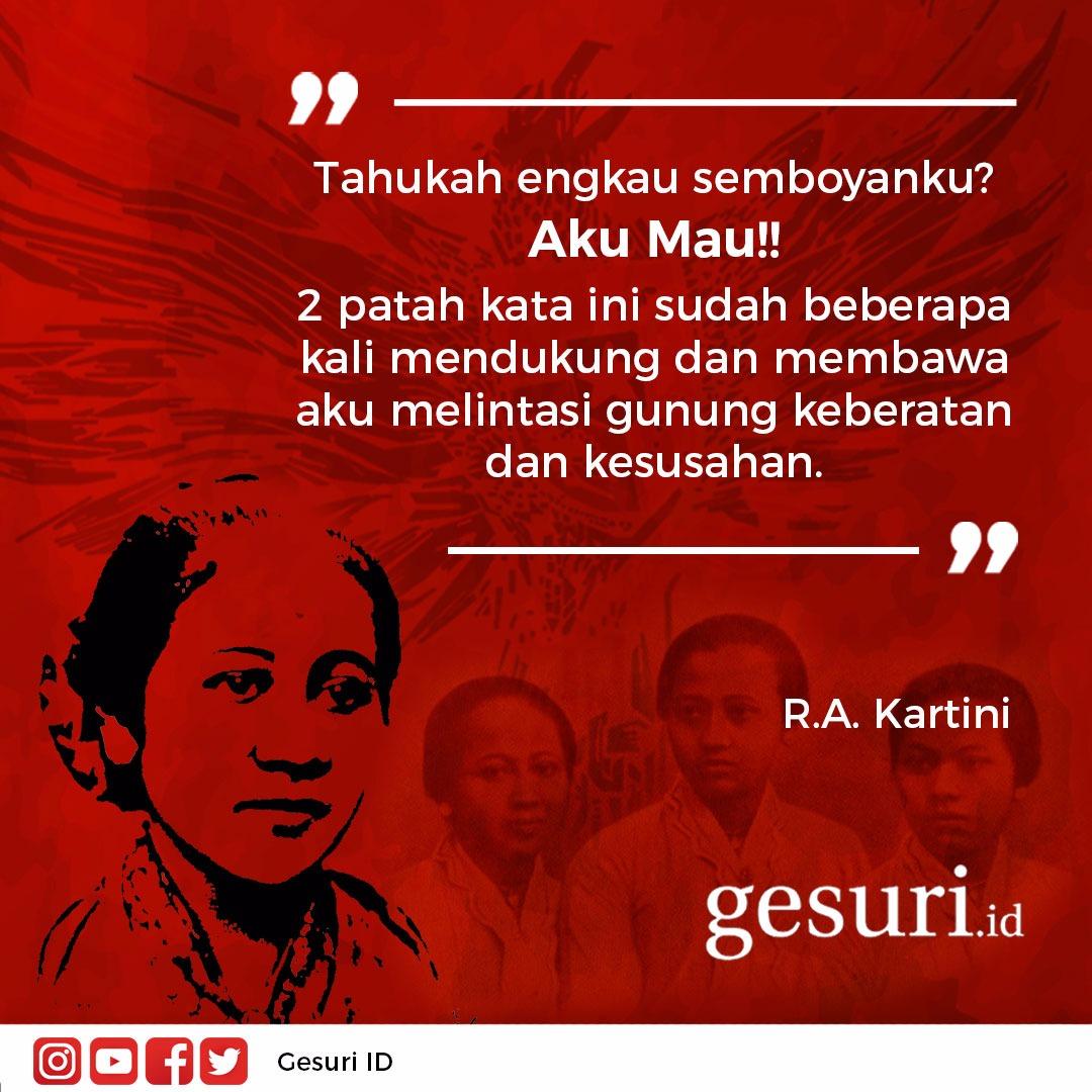 Pesan perjuangan Pahlawan Nasional R.A Kartini