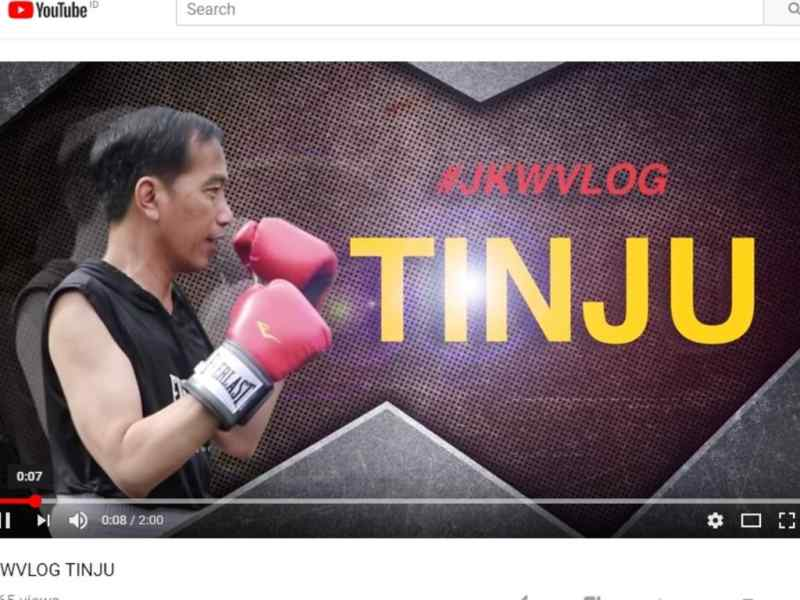 Vlog Tinju Presiden Bikin Heboh Netizen
