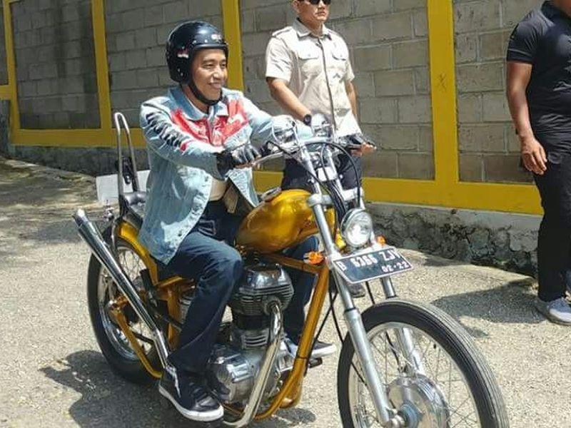 Jokowi Touring dengan Chopperland di Sukabumi