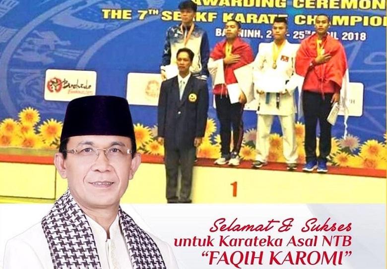 Ahyar-Mori Dukung Faqih, Atlet Karate Berprestasi
