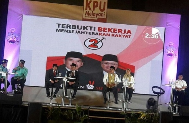 Debat Kandidat, Herman HN-Sutono Kritik Cagub Petahana