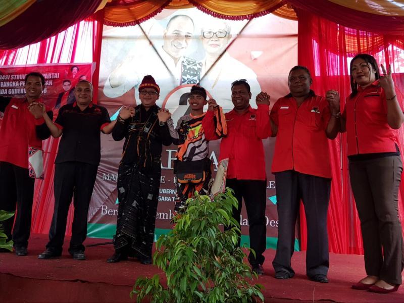 Rinto Sae Ajak Pendukung Menangkan Paket Marhaen