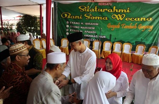 Hari Kedua Lebaran, Ganjar Silaturahmi Keluarga Besar Istri