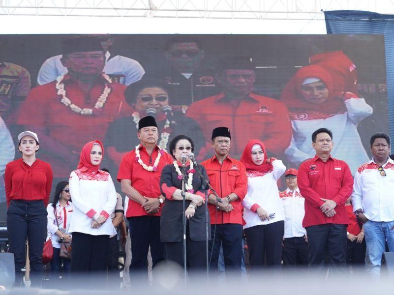 Megawati Kembali Hadiri Kampanye Akbar Hasanah
