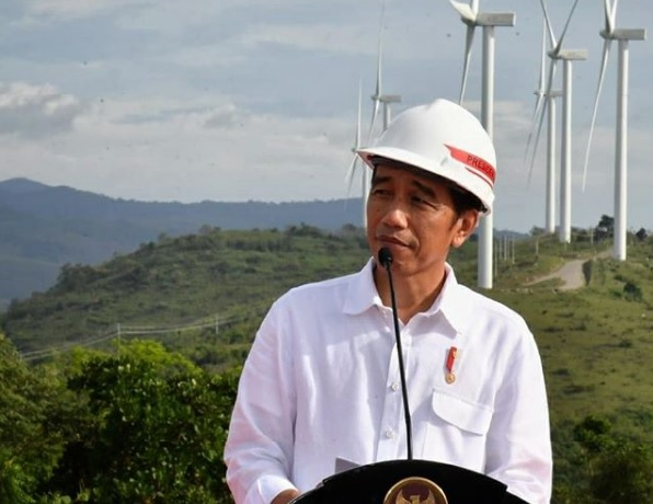 Resmikan PLTB Sidrap, Jokowi Ingin Harga Listrik Bersaing