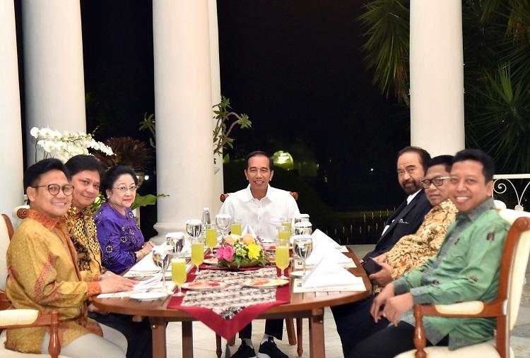 Ini Menu Makanan Saat Ketum Parpol Temui Presiden di Bogor