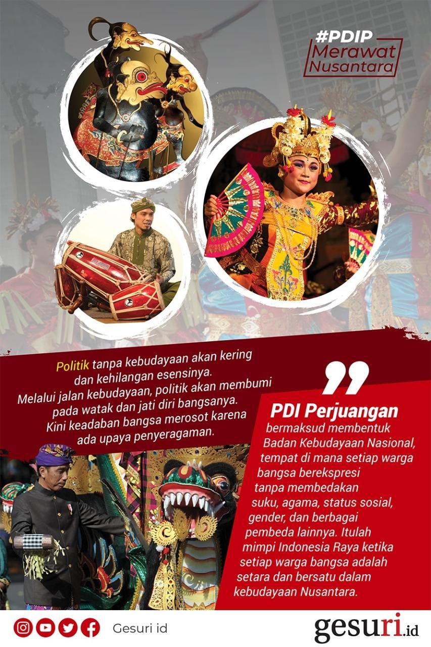 PDI Perjuangan Membentuk Badan Kebudayaan Nasional
