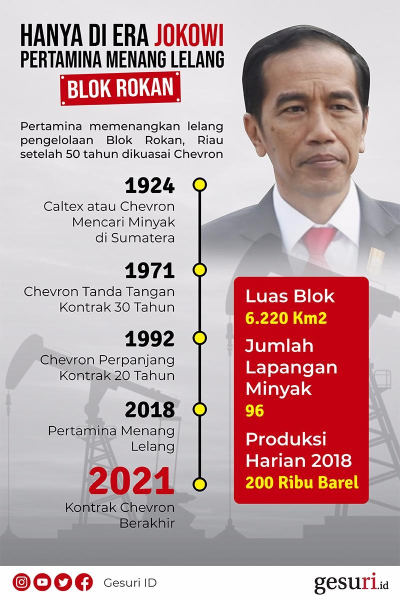 Hanya di Era Jokowi Pertamina Menang Lelang Blok Rokan