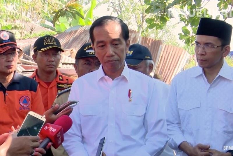 Tangani Gempa Lombok, Presiden Perintahkan Secepatnya