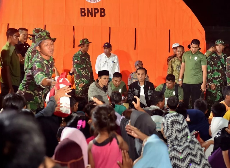 Inpres Penanganan Gempa LombokDiteken Presiden Jokowi