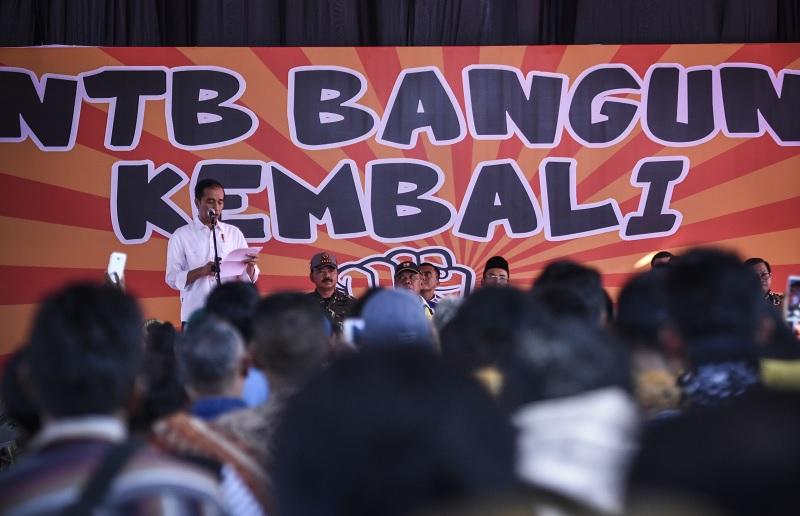 Kunjungi NTB, Jokowi Tinjau Langsung Penanganan Pascagempa