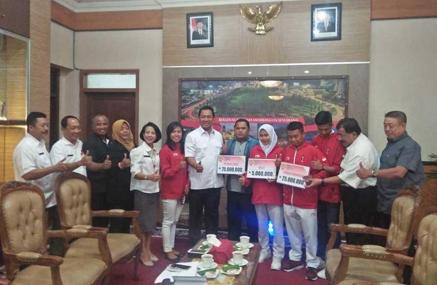 Hendi Beri Bonus Atlet & Pelatih Asian Games asal Semarang